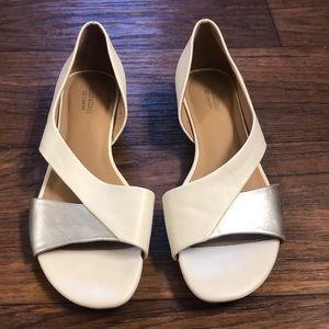 Naturalizer Shoes - Naturalizer White & Silver D'Orsay Flat 9.5